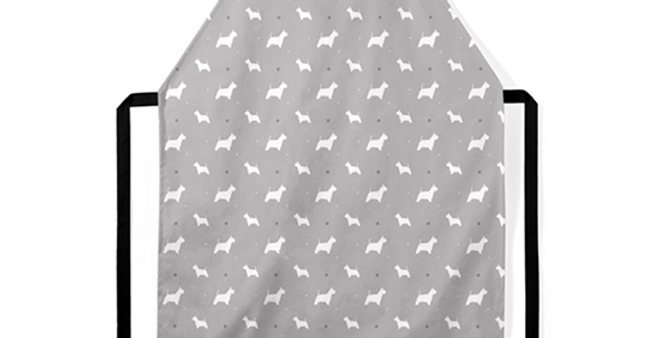 Grey Ultra Suede Apron - Wonderful Westies