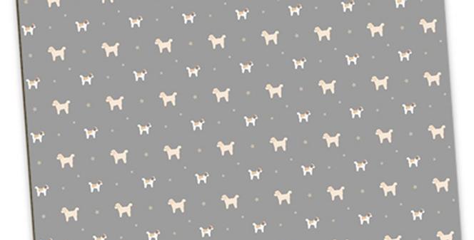 Grey Large Placemat Set (4) - Cuddly Cavachons