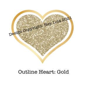Outline Heart Gold