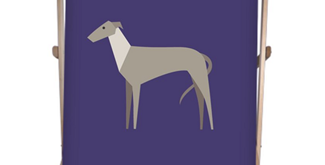 Double Deckchair - Graceful Greyhounds