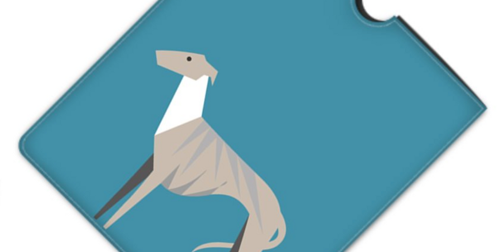 Leather iPad Case (Standard) - Whimsical Whippets