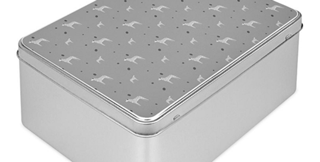 Grey Storage Tin - Dotty Dallies