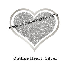 Outline Heart - Silver