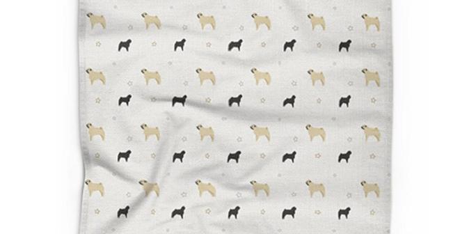 Cotton Linen Tea Towel - Perfectly Pug