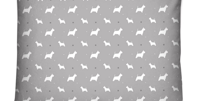 Grey Dog Bed Cushion - Wonderful Westies