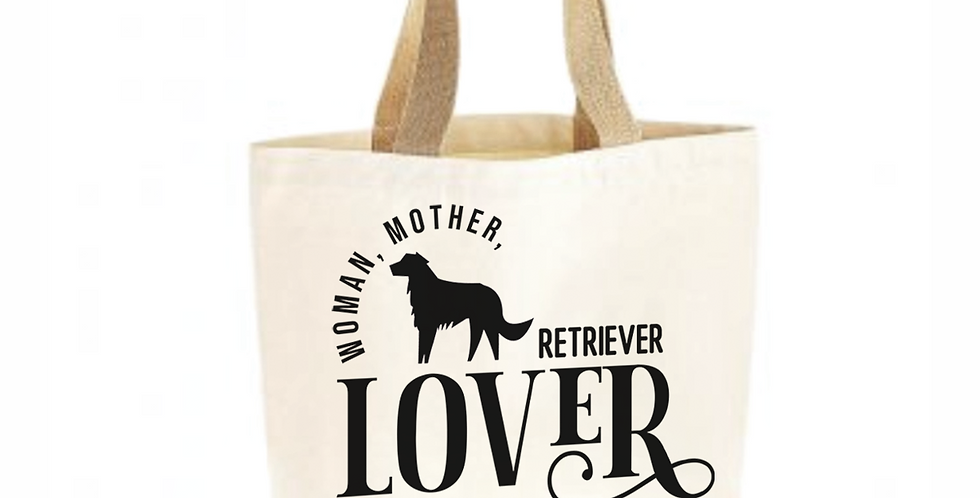 Classic Jute & Canvas Retriever Shopper