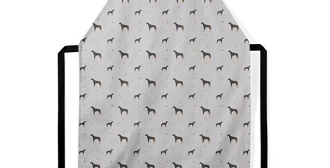 Grey Ultra Suede Apron - Dazzling Dobermans