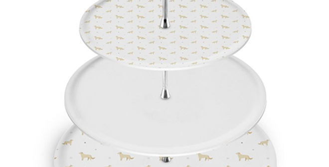 Grey Cake Stand - Goldens Galore
