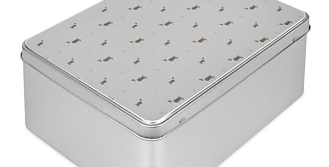 Grey Storage Tin - Busy Beagles