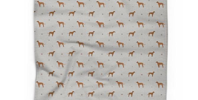 Cotton Linen Tea Towel - Regal Ridgebacks