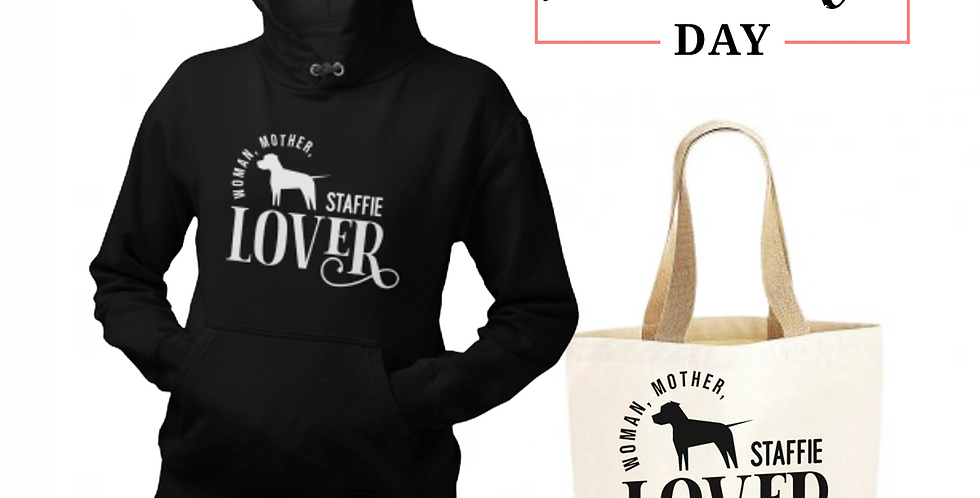 Staffie Lover - Shopper & Hoodie Bundle
