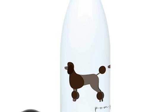 Trio Steel Water Bottle - Pom Pom Poodles