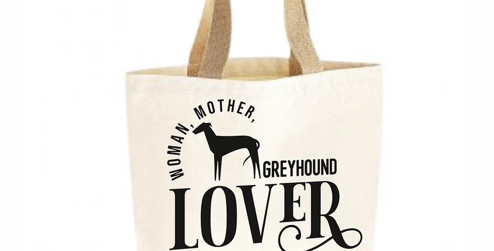 Classic Jute & Canvas Greyhound Shopper