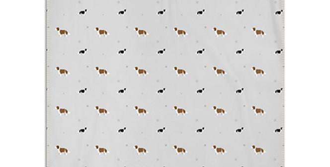 Grey Snuggly Fleece Blanket - Scrumptious Springers