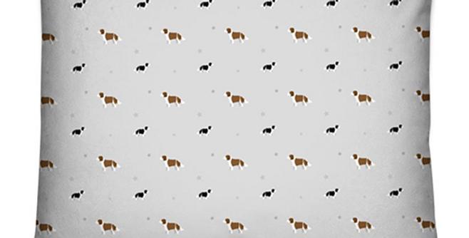 Grey Dog Bed Cushion - Scrumptious Springers