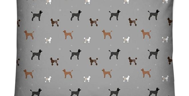 Dog Bed Cushion - Poodles