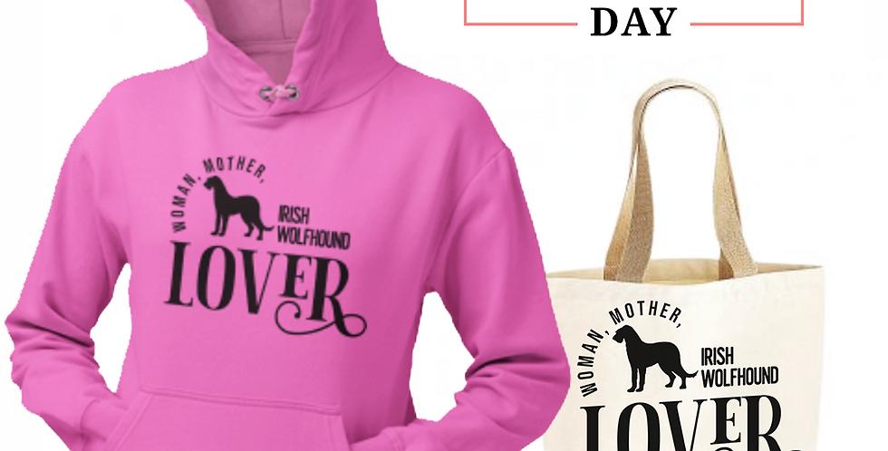 Irish Wolfhound Lover - Shopper & Hoodie Bundle