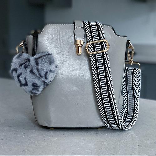 Snow Leopard Bucket Bag - Grey