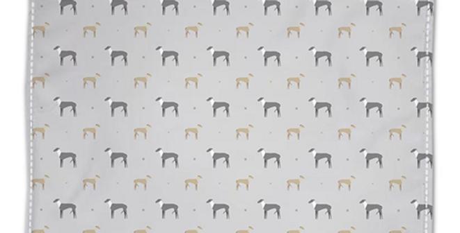 Grey Napkin Set (4) - Graceful Greyhounds