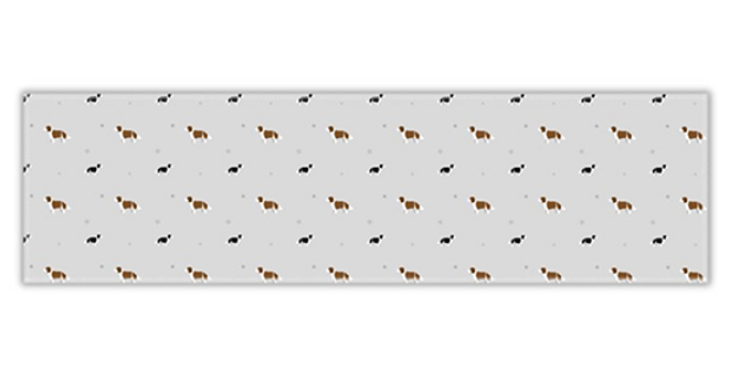 Grey Twill Table Runner - Scrumptious Springers