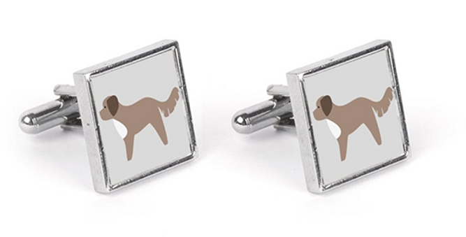 Grey Cufflinks - Cute Cavapoos