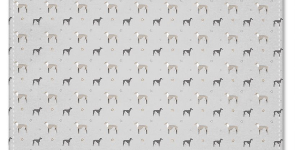 Grey Multi Pocket Squares (2) - Whimsical Whippets