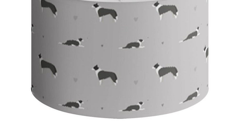 Grey Large Round Ceiling Shade - Cool Collies