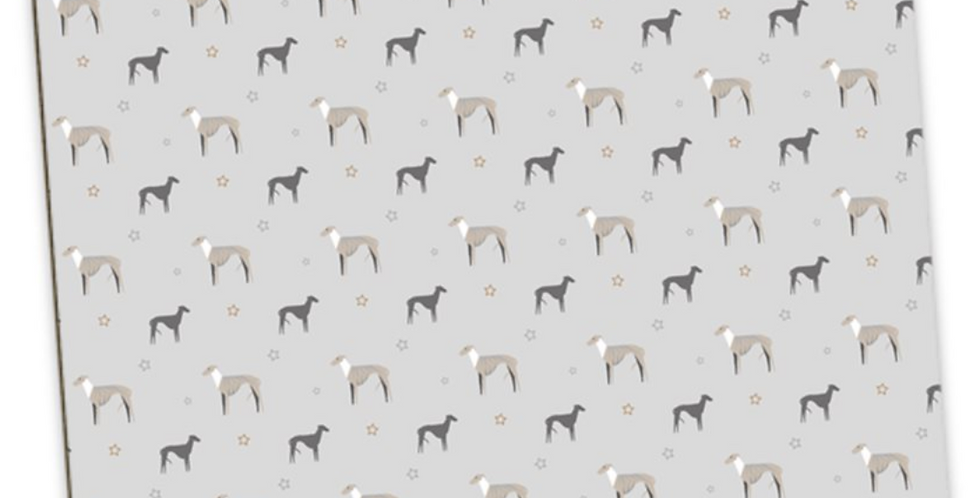 Grey Large Placemat Set (4) - Whimsical Whippets