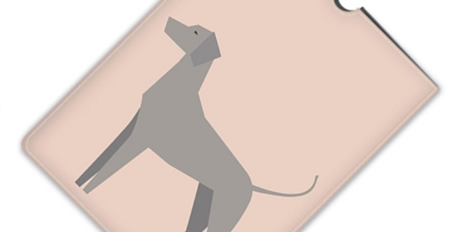Leather iPad Case (Mini) - Valiant Weimaraners