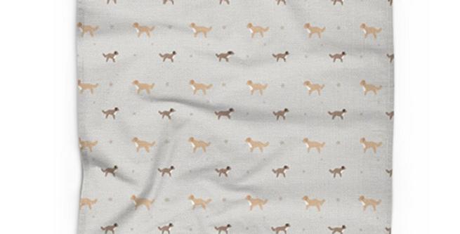 Cotton Linen Tea Towel - Cute Cavapoos