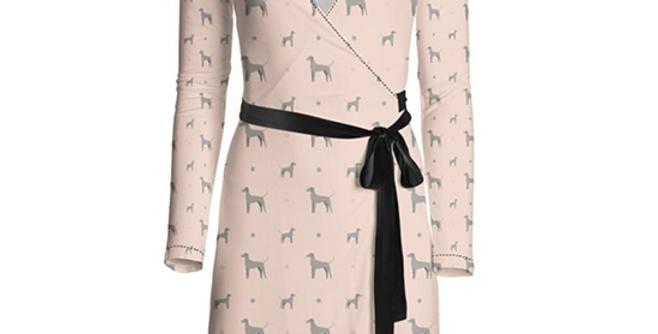 Multi Print Wrap Dress - Valiant Weimaraners