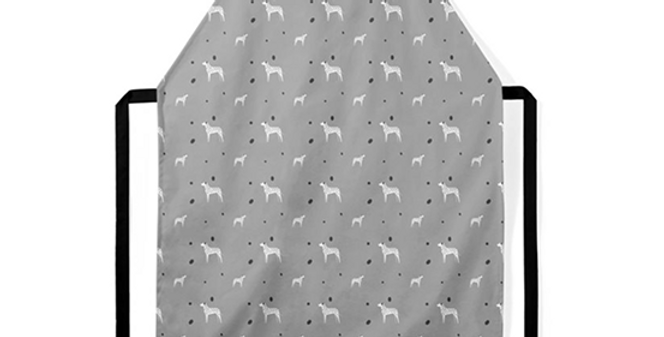 Grey Ultra Suede Apron - Dotty Dallies