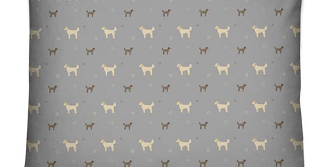 Grey Dog Bed Cushion - Dandy Doodles