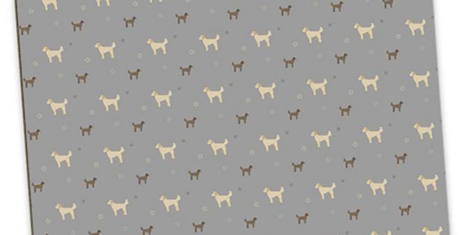 Grey Large Placemat Set (4) - Dandy Doodles