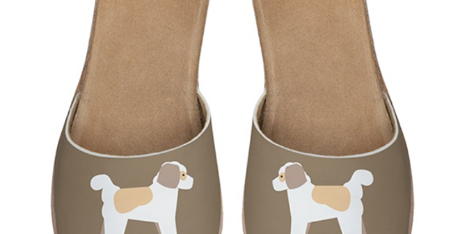 Leather Sliders - Cuddly Cavachons