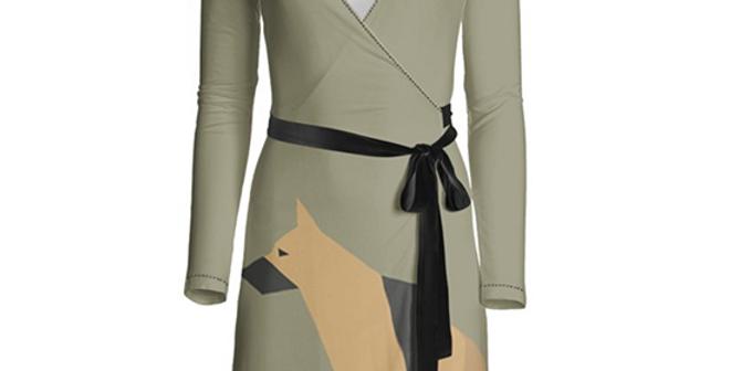 Big Dog Wrap Dress - Smart Shepherds