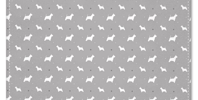 Grey Multi Pocket Squares (2) - Wonderful Westies