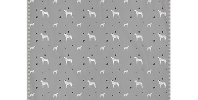 Grey Snuggly Fleece Blanket - Dotty Dallies