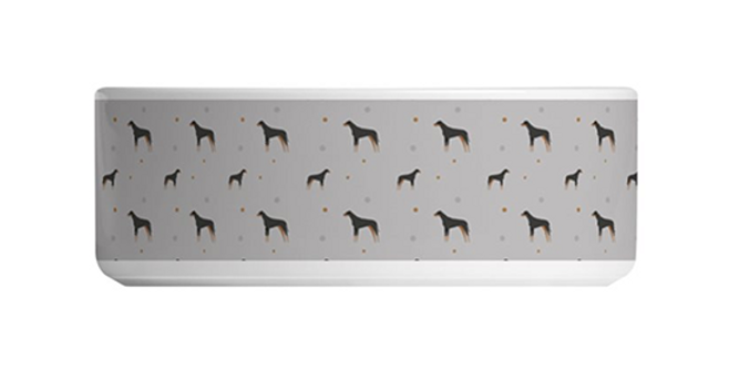 Grey Large Ceramic Dog Bowl - Dazzling Dobermans