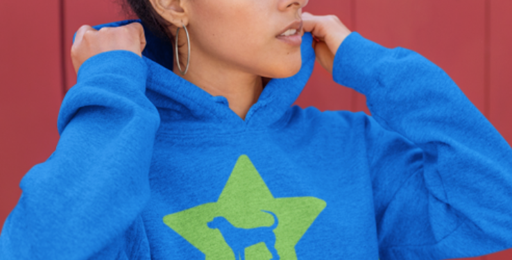 Bright Star Blue/Green Hoodie - ANY BREED