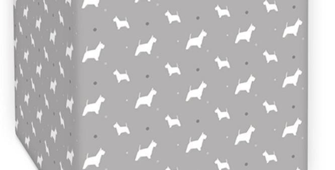 Grey Square Lampshade - Wonderful Westies