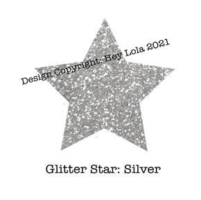 Glitter Star - Silver