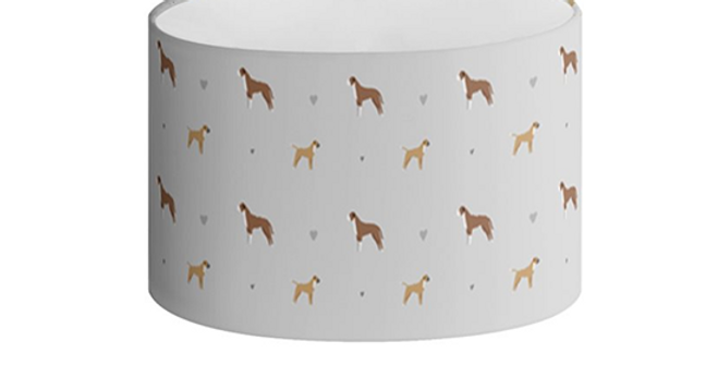 Oval Lampshade - Bounding Boxers
