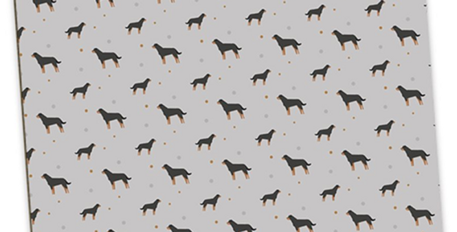 Grey Large Placemat Set (4) - Rock n Roll Rotties