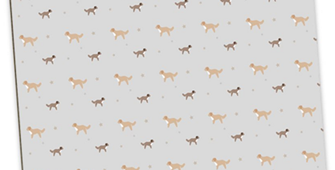 Grey Large Placemat Set (4) - Cute Cavapoos