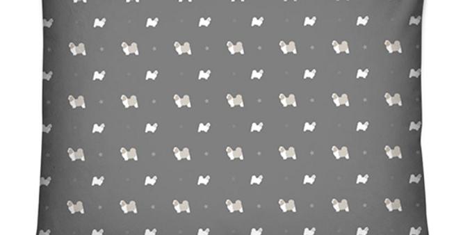 Grey Dog Bed Cushion - Super Tzus