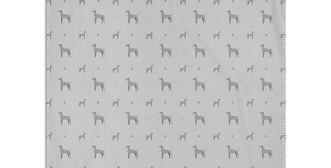 Grey Snuggly Fleece Blanket - Valiant Weimaraners