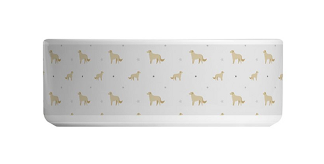 Grey Large Ceramic Dog Bowl - Goldens Galore