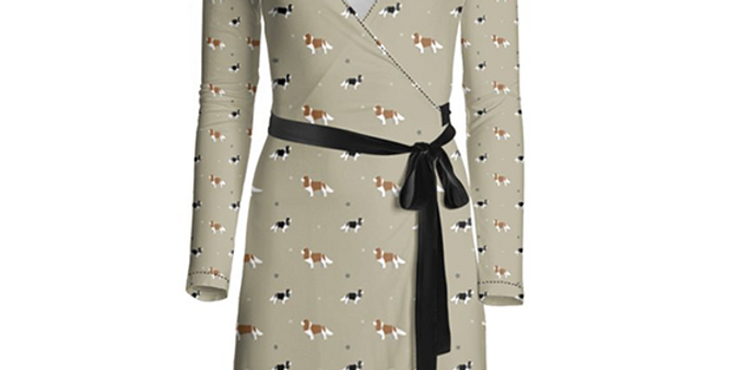 Multi Print Wrap Dress - Keen King Charles
