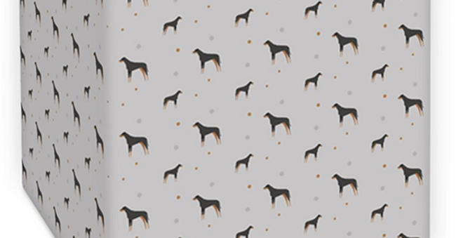 Grey Square Ceiling Shade - Dazzling Dobermans